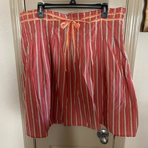 Old navy red pinstripe a line skirt 18